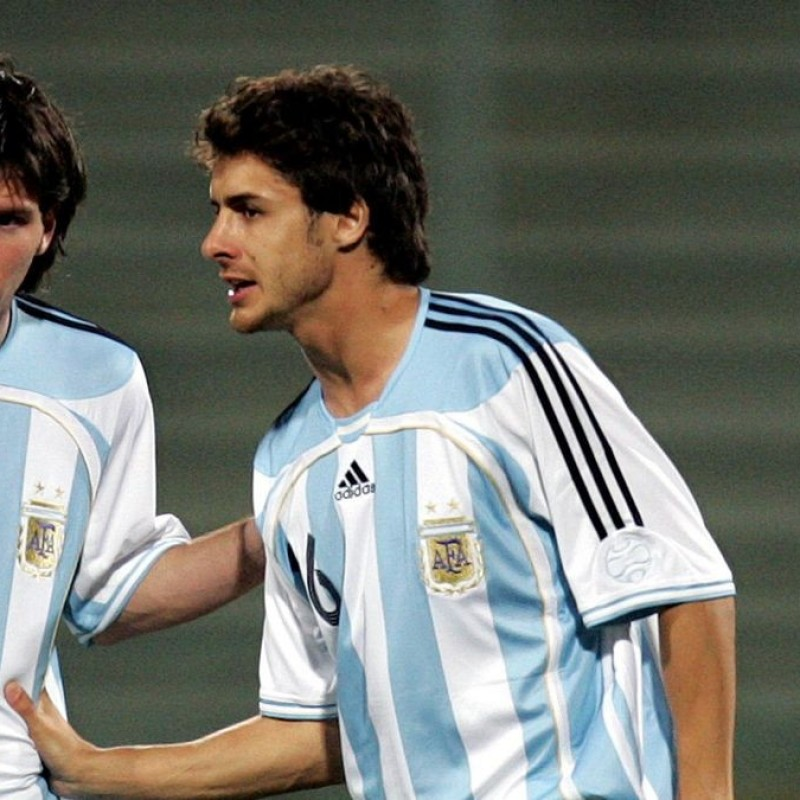 Aimar's Official Argentina Signed Shirt, 2005/06