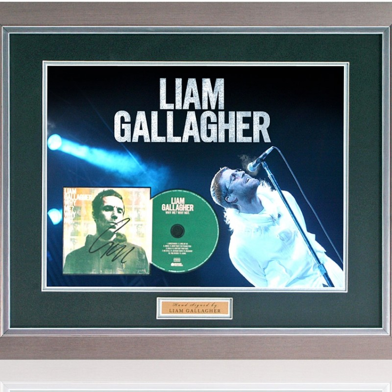 Liam Gallagher Hand Signed Why Me? Why Not. Presentation