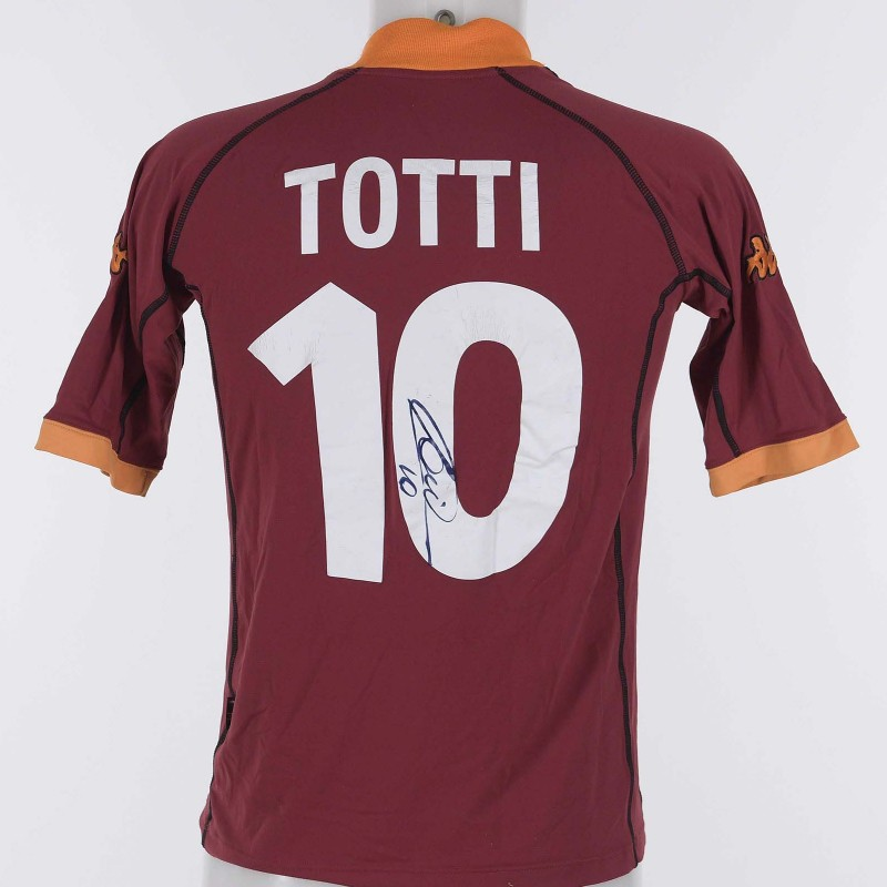 Francesco Totti's AS Roma Signed Shirt, 2001/2002