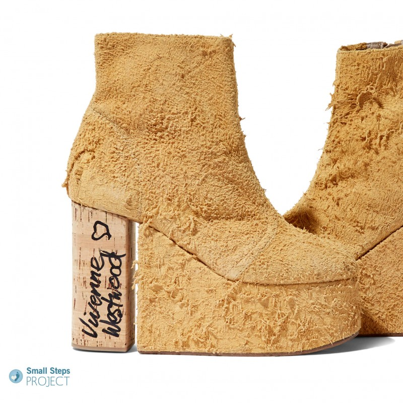 Vivienne Westwood's Autographed Cork Platform Heels from Her Personal Collection