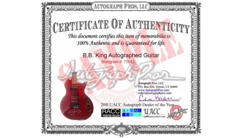 Iron Maiden Steve Harris Autographed Guitar
