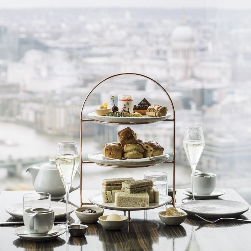 Champagne Afternoon Tea at Oblix for 4