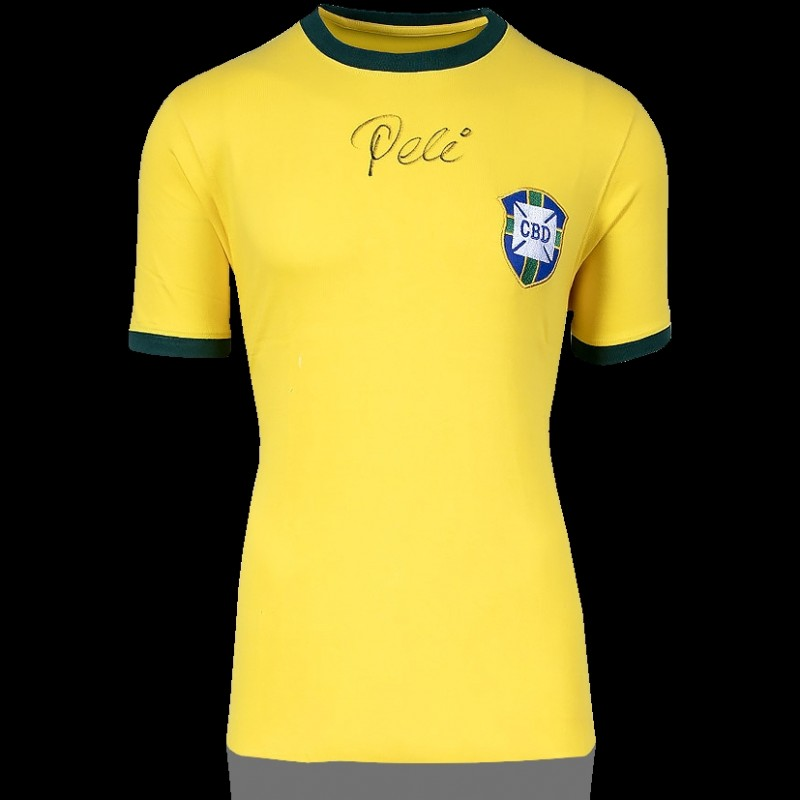 Pelè Front Signed Brazil 1970 Home Shirt