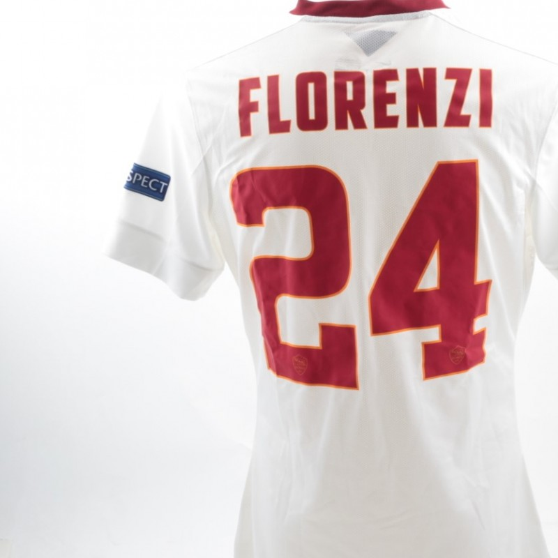Florenzi issued shirt Roma-Feyenoord, Europa League 19.02.15