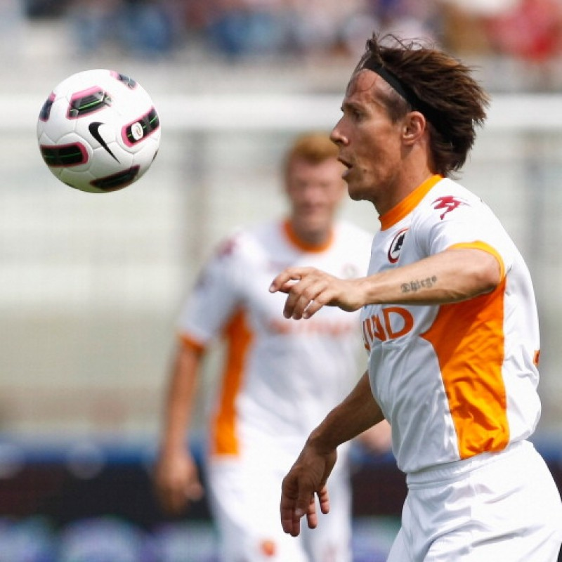 Taddei's Roma Signed Match Shirt, 2010/11