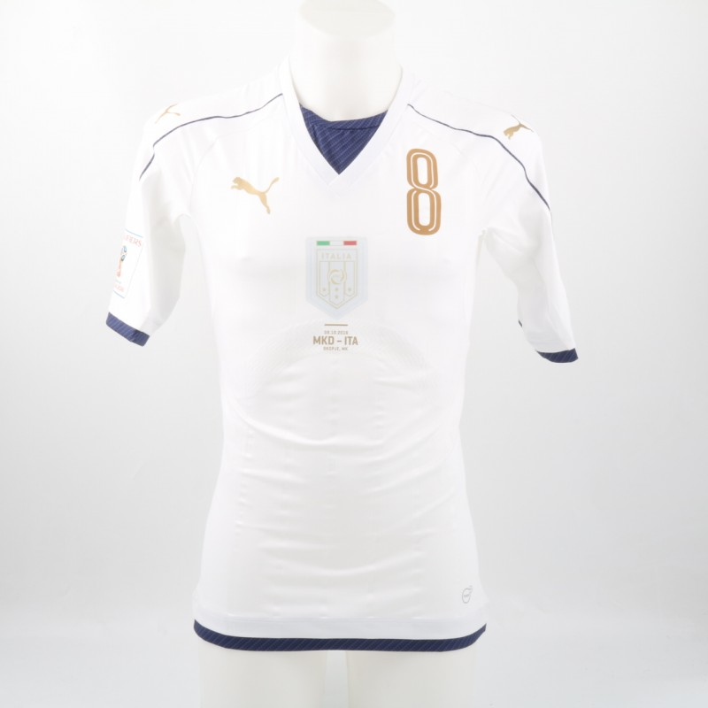 Florenzi issued/worn shirt, Macedonia-Italy 09/10/2016