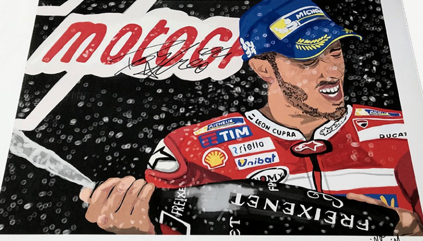 """Andrea Dovizioso: Race 6 Barcelona"" by Tammy Gorali"