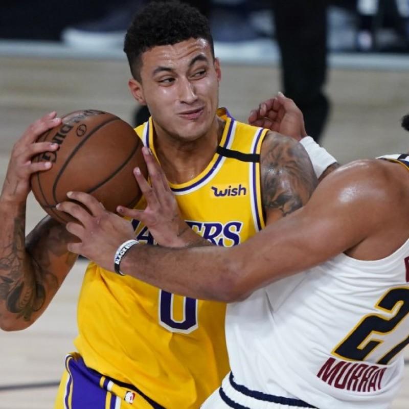 Championship Lakers Jersey Signed by Kyle Kuzma