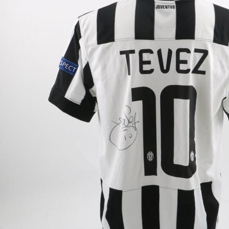 Official Tevez Juventus shirt, Champions League 14/15 - signed