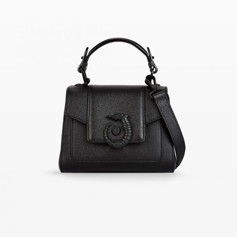 Trussardi Mini Lovy Bag in pelle crespo nera