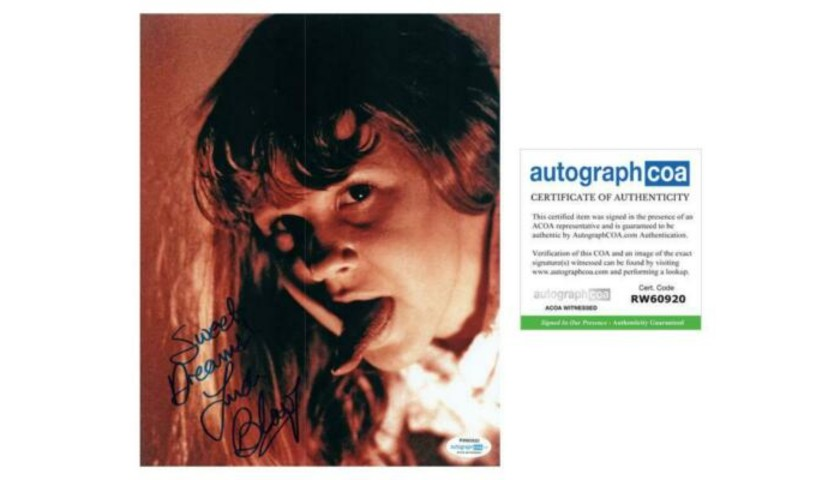 "Linda Blair ""The Exorcist"" Hand Signed Photograph"