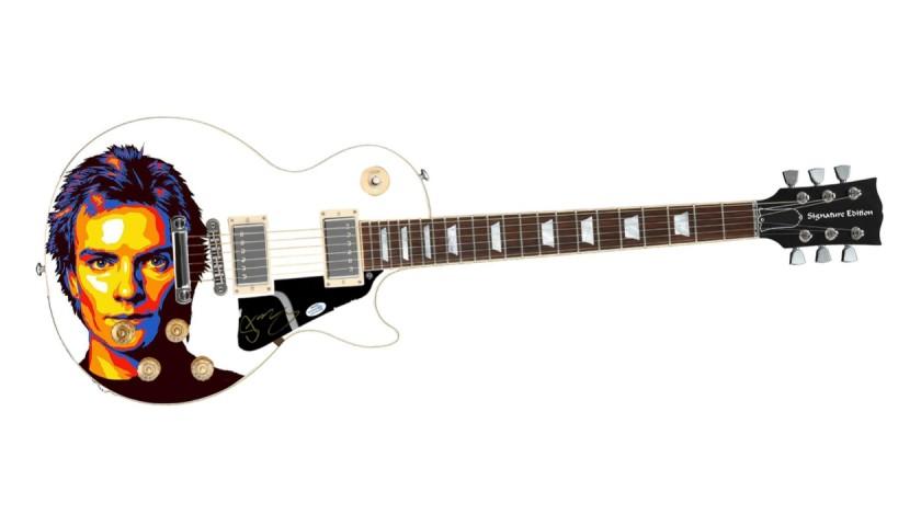 Sting Signed Guitar