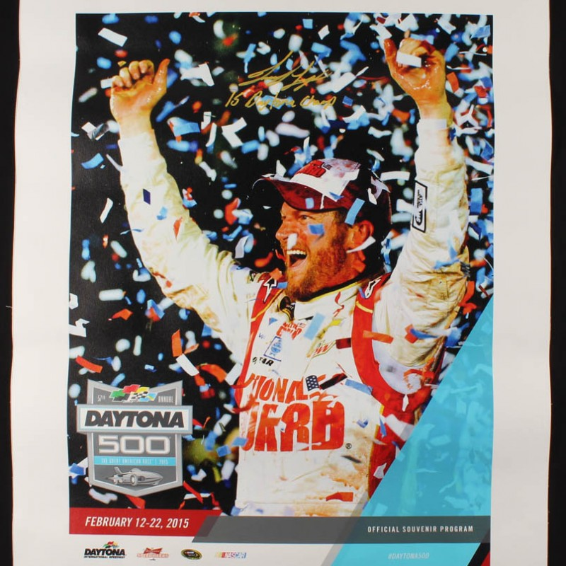 Joey Logano Signed Daytona 500 Photo