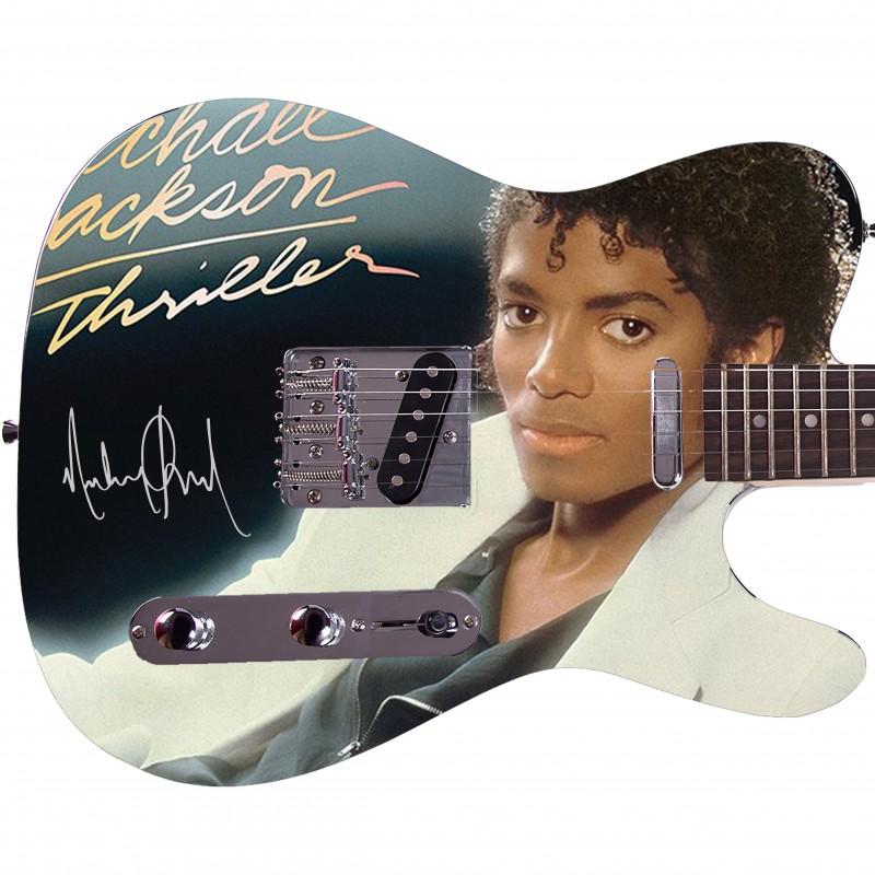 "Michael Jackson ""Thriller"" Custom Graphics Guitar"
