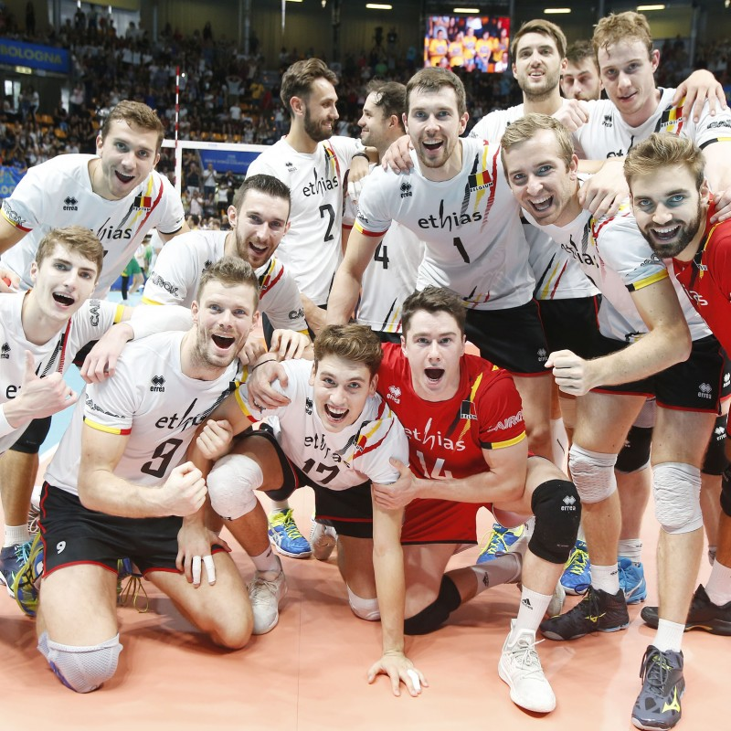 Official FIVB Volleyball Signed by the Belgian National Volleyball Team