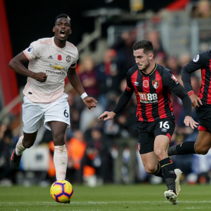 Lewis Cook's AFC Bournemouth Worn and Signed Poppy Shirt