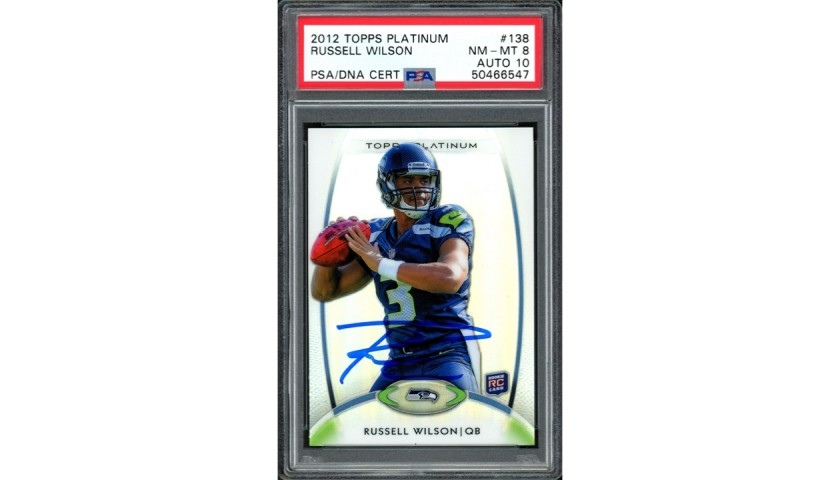 Russell Wilson Signed Rookie Card
