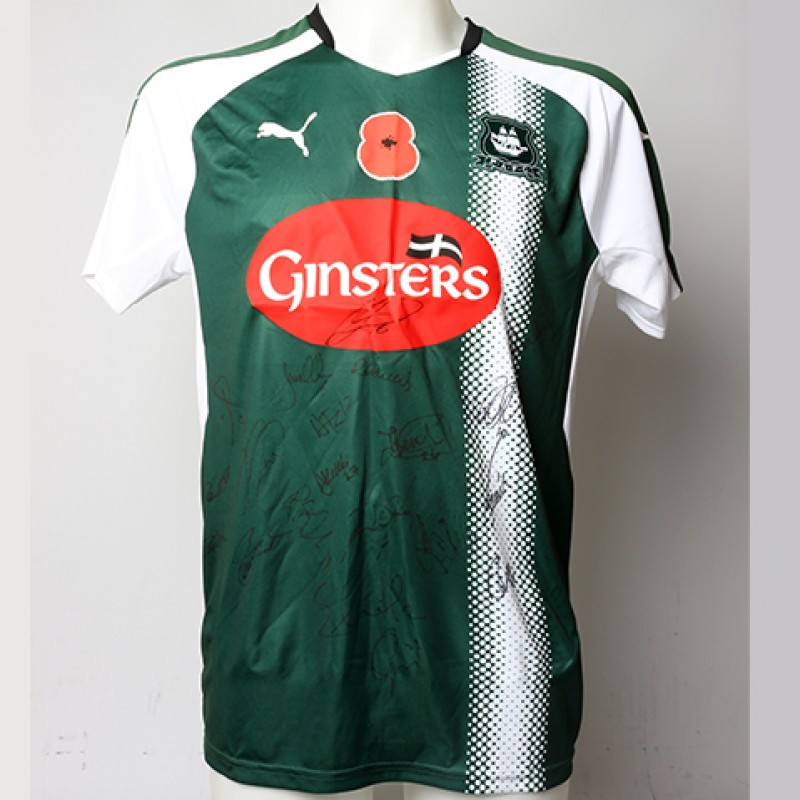 Poppy Shirt Signed by Plymouth Argyle F.C.