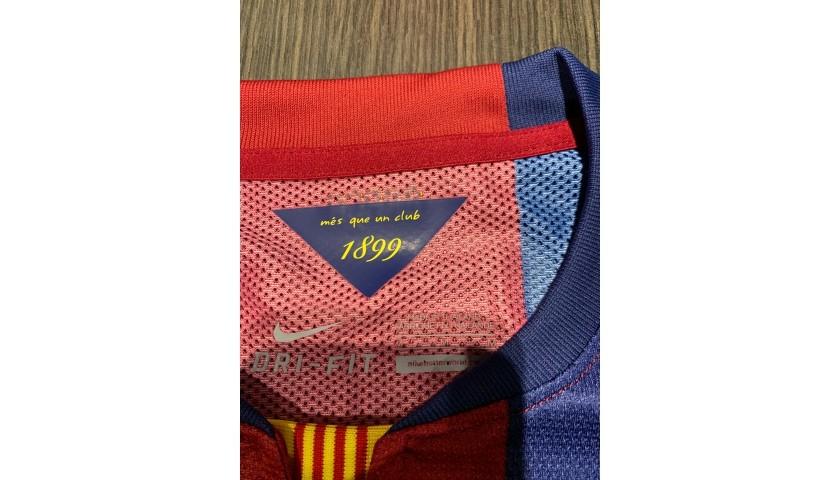 Iniesta's Barcelona Signed Match Shirt, UCL 2014/15
