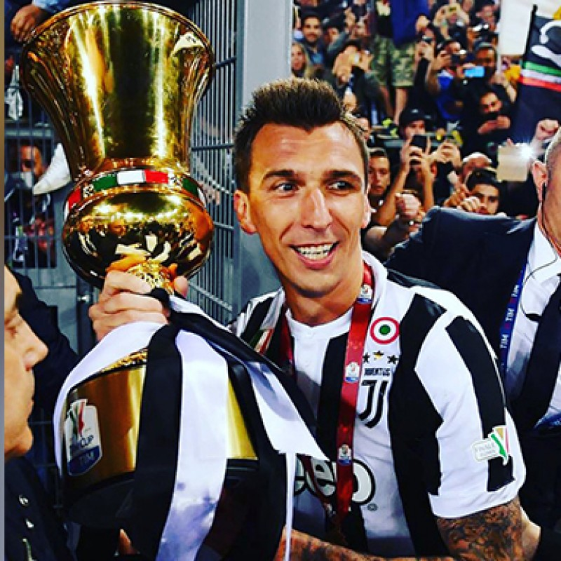 Mandzukic's Match-Issued/Signed Juventus Shirt – 2018 TIM Cup Final