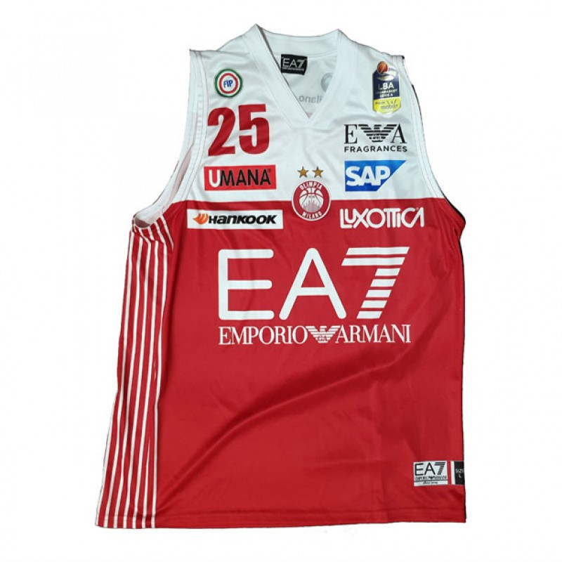 Theodore's Olimpia Milano Worn and Signed Basketball Vest