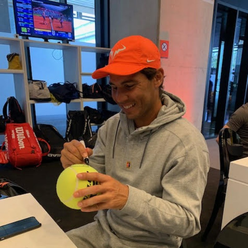 Tennis Ball Signed by Nadal