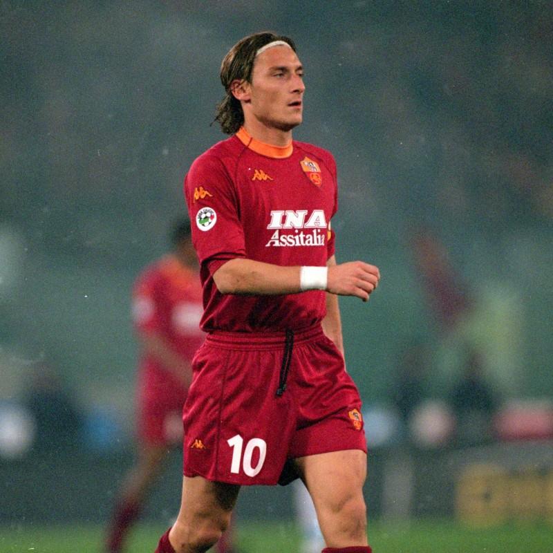 Totti's Roma Signed Match Shirt, 2000/01 Pre-Season