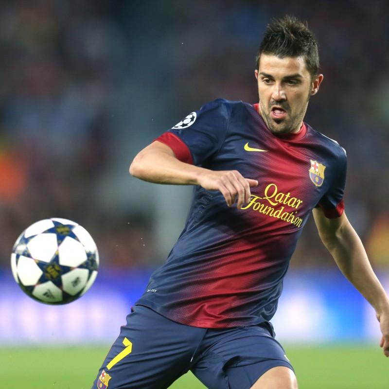 David Villa Signed Barcelona Shirt 2012/13