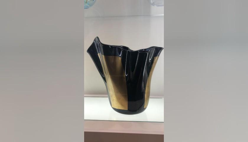 """Murano """"Fazzoletto"""" Glass Vase"""