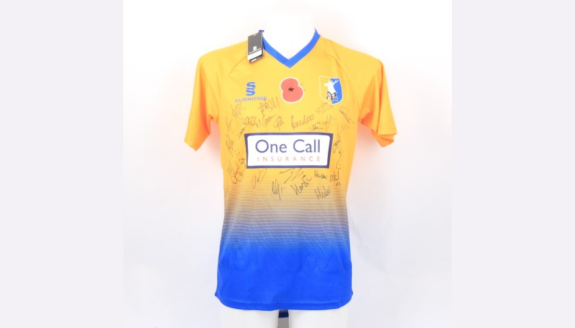 Mansfield Town Official Poppy Shirt Signed by the Team
