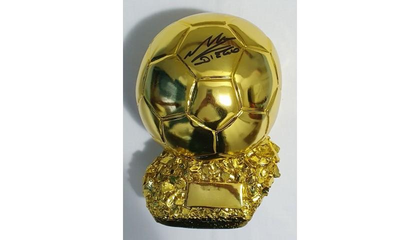 Maradona Signed Replica Ballon d'Or