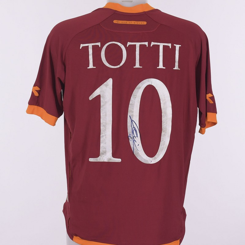 Francesco Totti's AS Roma Signed Shirt, 2006/2007