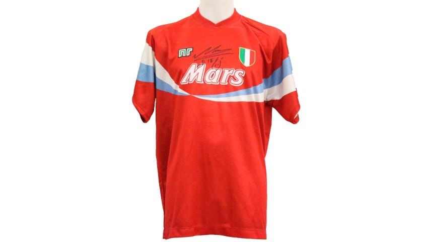 Maradona's Official Napoli 1990/91 Signed Shirt