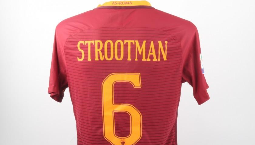 Kevin Strootman Match Worn Shirt, Juventus-Roma 17/12/16 - Special Telethon Sponsor