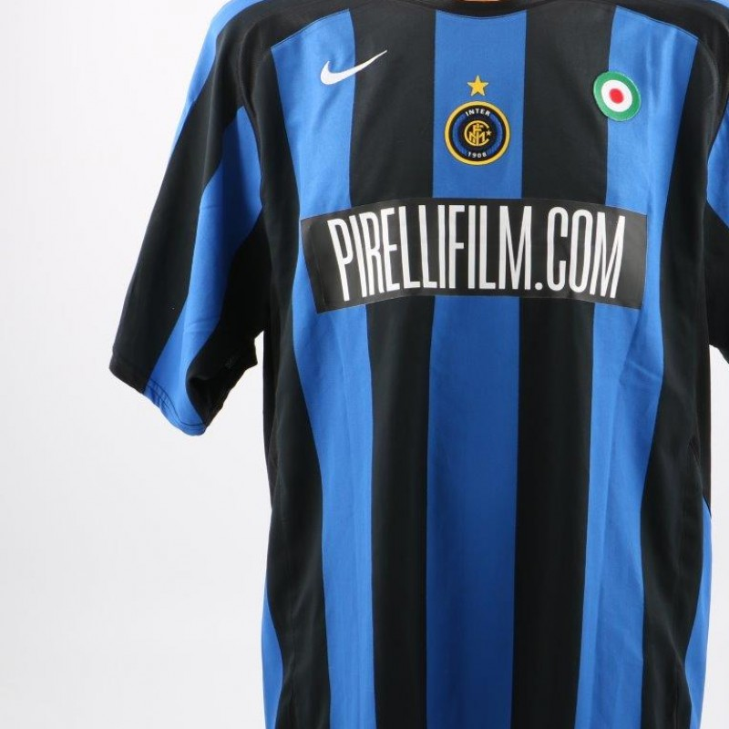 Figo Inter match issued/worn shirt, Serie A 2005/2006