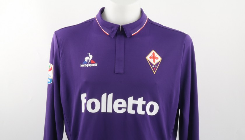 Ilicic Match Worn Shirt, Lazio-Fiorentina 18/12/1Signed 6 -