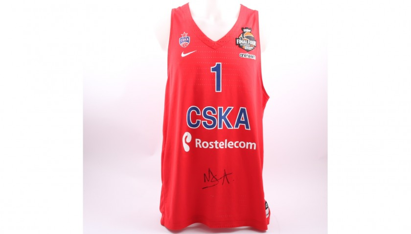 separation shoes 5f393 0078c Issued/worn CSKA Moscow Jersey Signed by De Colo, 2017/18 Turkish Airlines  EuroLeague - CharityStars