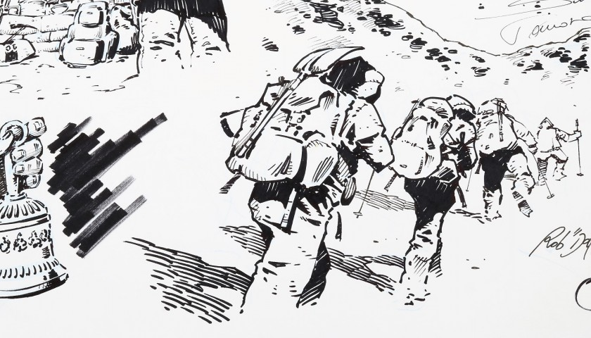 Original Illustration by Rob Dakar Meli - Kanchenjunga Expedition  #2