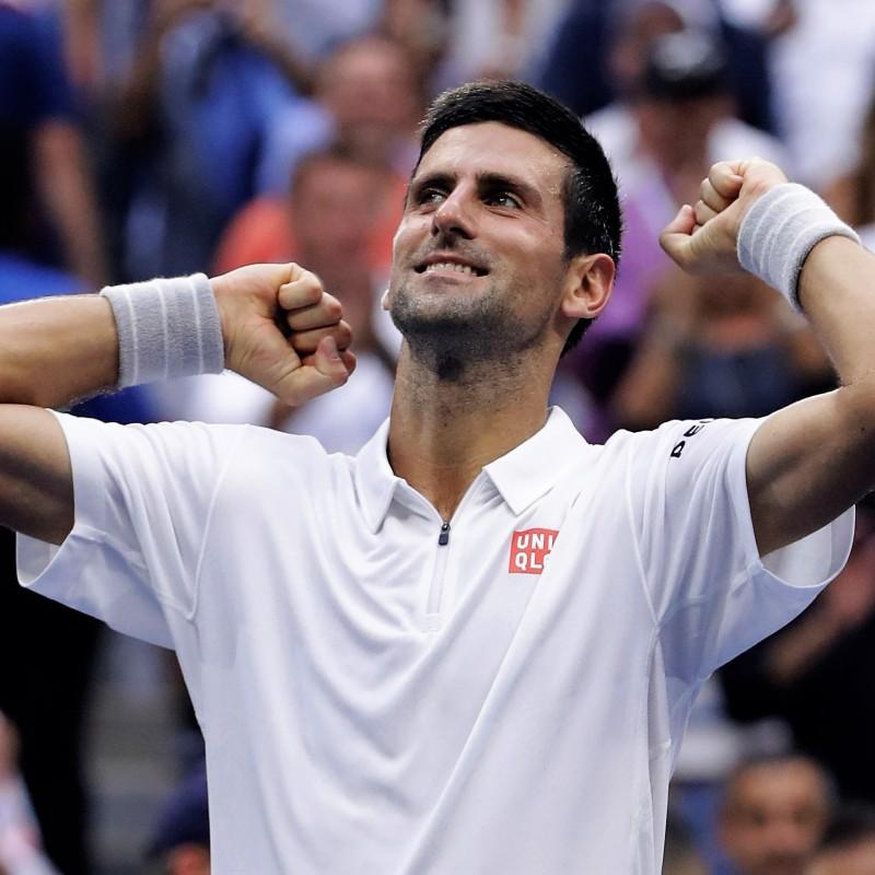 Djokovic's Worn US Open 2016 Signed Shirt