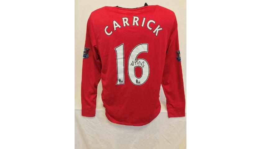 Michael Carrick's Official Man Utd Signed Shirt, 2009/2010