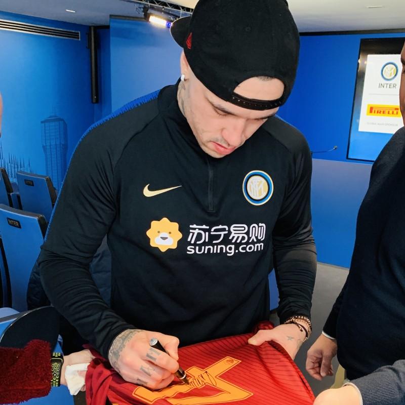 Nainggolan's Official Roma Signed Shirt, 2016/17