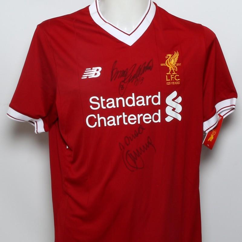 """LFC 125 Shirt """"Goalkeeper Legends"""" Signed by Grobbelaar and Dudek"""