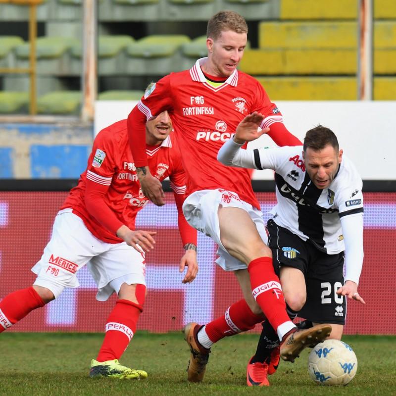 Di Gaudio's Unwashed Match-Worn 2018 Parma-Perugia Shirt