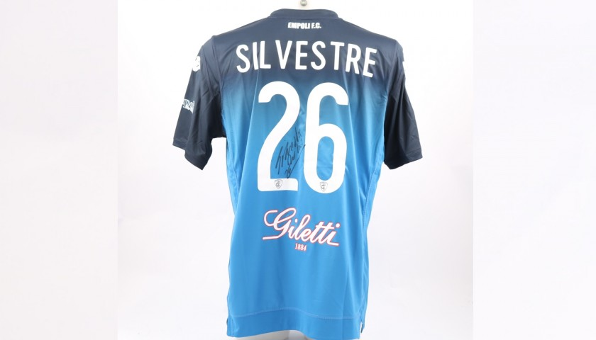 Silvestre's Empoli Match-Issue Signed Shirt, 2018/19