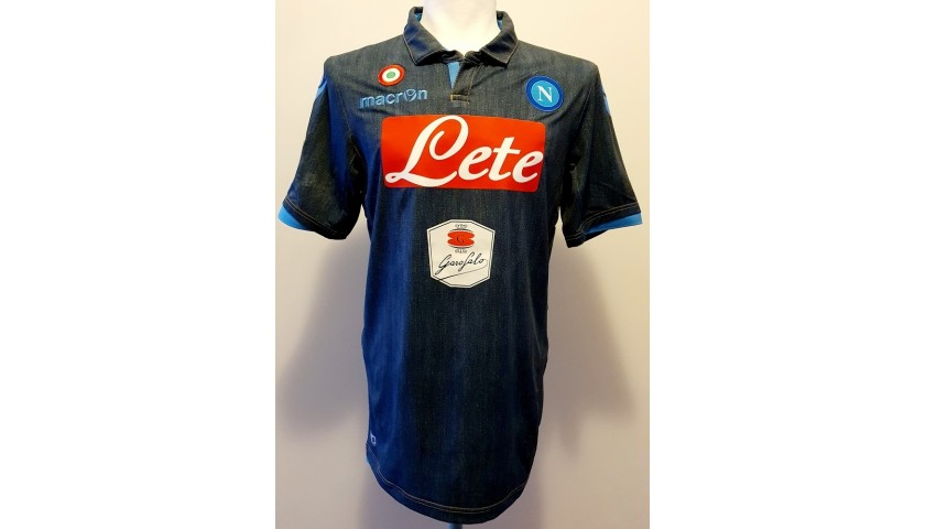 Higuain's Napoli Worn and Signed Shirt, 2014/15