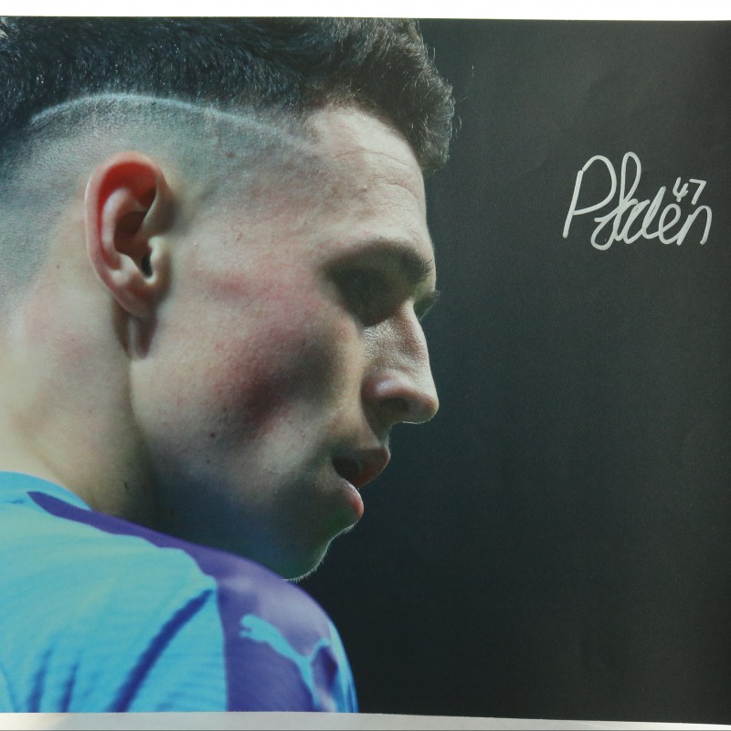 """Manchester City's Phil Foden"" Signed Picture"