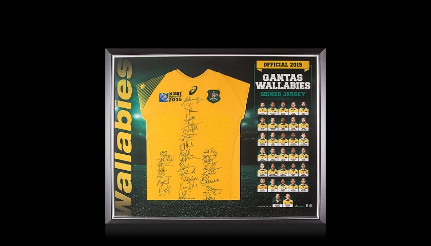 Australia Squad Signed 2015 Rugby World Cup Shirt