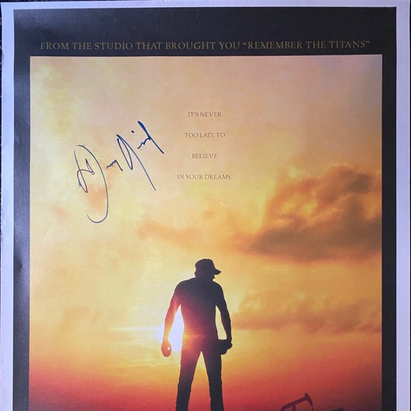 Dennis Quaid Signed The Rookie Original Movie Poster