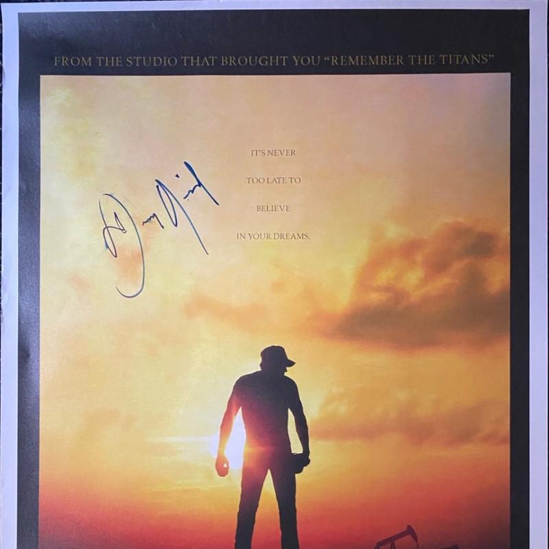 Dennis Quaid Signed The Rookie Original Movie Poster