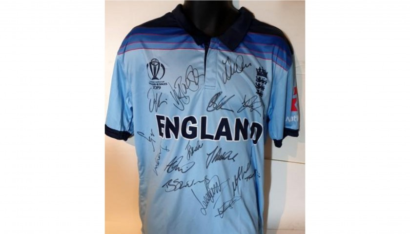 England Cricket Squad 2019 World Cup Winners Signed Shirt
